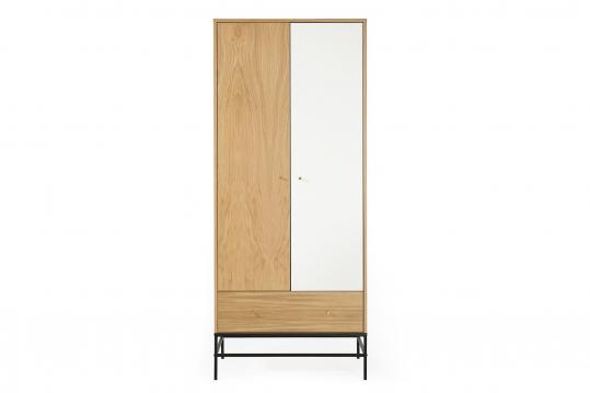 Penderie en bois et métal 2 portes 1 tiroir 1 étagère - RAUMA