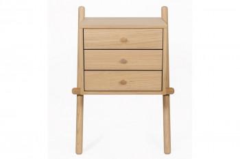 Table de nuit en bois 3 tiroirs - TARTU