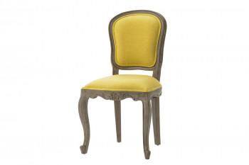 Chaise de style en tissu et bois (lot de 2) ROMANCE