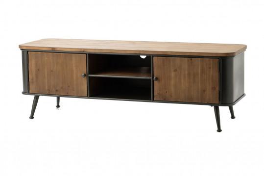 Meuble TV en bois et métal BILBAO
