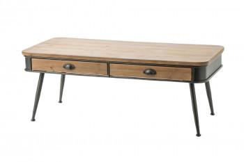 Table basse en bois et métal BILBAO
