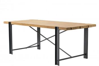 Table rectangulaire en bois et métal LALI
