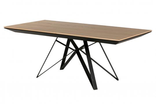 Table en bois extensible bois/métal L200/292 - SPIDER