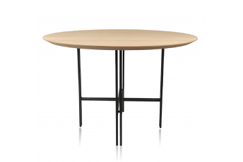 TABLE RONDE MODERNE EN BOIS ET METAL - BRIGHTON