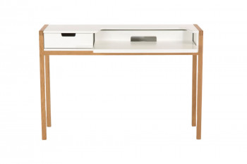 Bureau en bois chêne et blanc - SORBONNE
