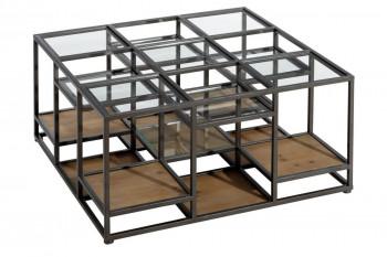 Table basse en bois et métal HAVRE