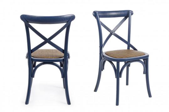 Chaise bistrot en rotin (lot de 2) - ESTAMINET