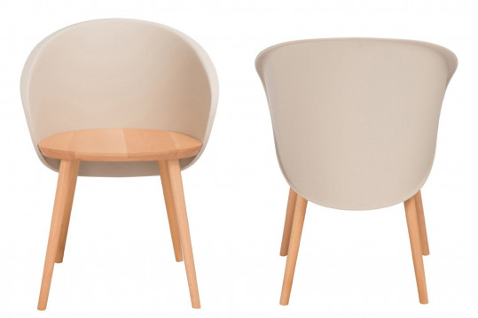 Chaises en bois - PEREZ (Lot de 2)