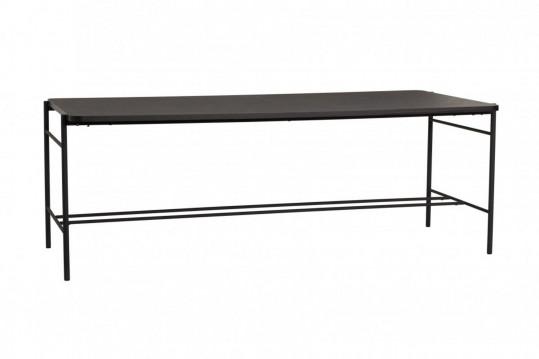 Table à manger rectangulaire en bois et métal noir L200 - HANS