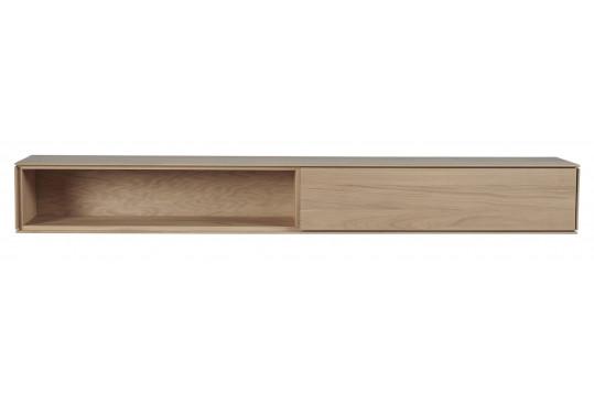 étagère suspendue en bois massif finition naturelle