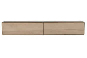 élément suspendu en bois massif avec 2 tiroirs Filigrame