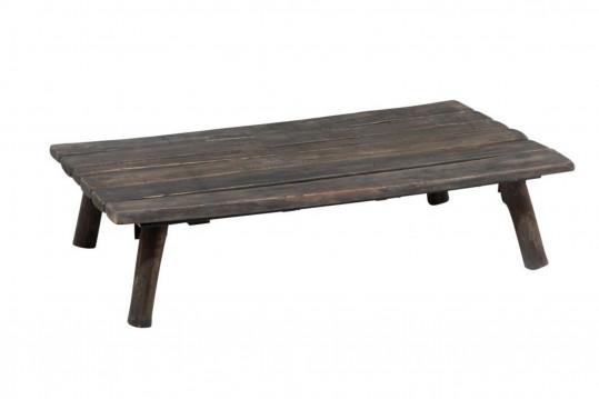 Table basse rectangulaire en chêne brut - DUVAL