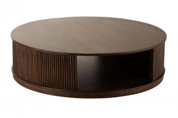 Table basse ronde en bois de manguier D120 - BALI