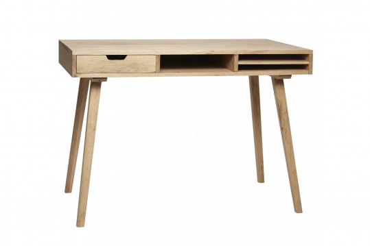 Bureau scandinave en bois 1 tiroir 3 niches - STINA