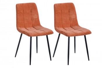 Chaises en tissu et métal (lot de 2) DIANA