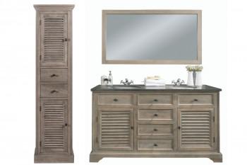 Meuble de salle de bain double vasque chêne L150 - ensemble ROME