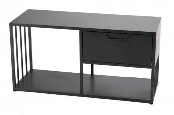 Petit meuble TV avec 2 niches et 1 tiroir