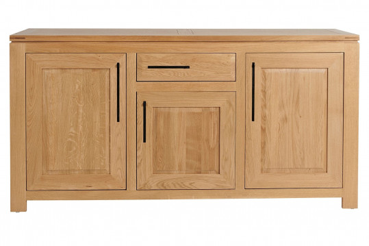Buffet bas moderne en chêne clair 3 portes 1 tiroir - BOSTON