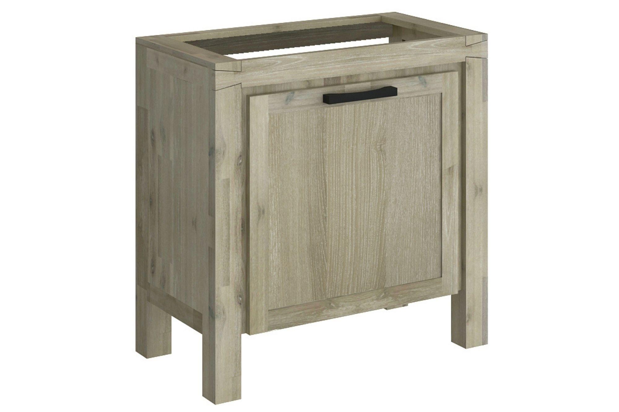 meuble sous vasque en acacia 80 cm