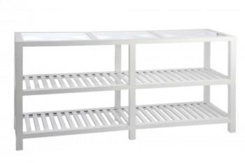 Console drapier en bois couleur blanc