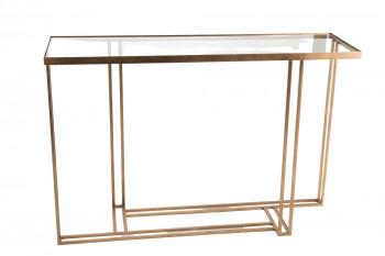 Console Art Déco en métal et verre - GALILEO