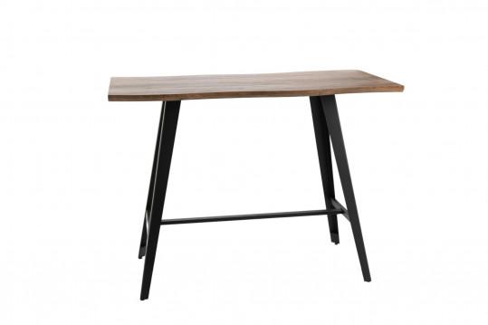 table bar en bois et métal