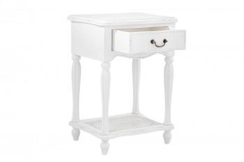 Table de chevet baroque blanche