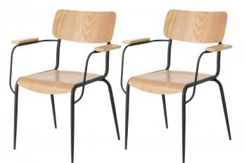 deux chaises avec accoudoirs vintage
