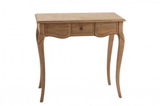 bureau baroque en bois avec un tiroir