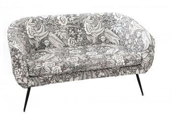 Canapé droit 2 places en tissu et métal - ALEXIE