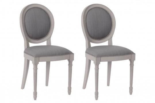 Lot de deux chaises médaillon