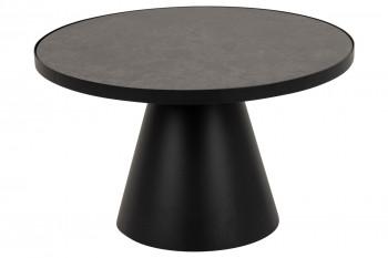 Table basse ronde en céramique et métal D65 - GIROLLE