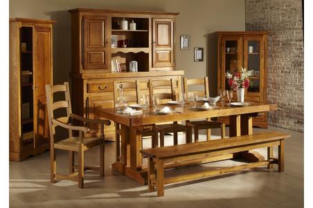 Table en ch ne massif mod le d 39 occasion hellin - Table salle a manger monsieur meuble ...