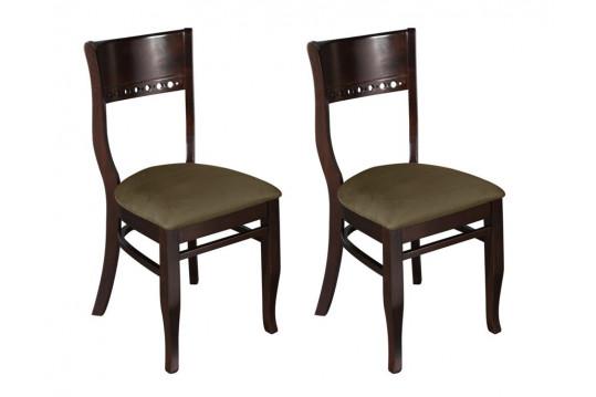 Lot de 2 chaises en hévéa massif  SIENNA