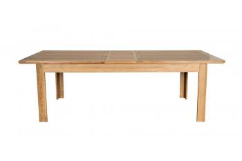 Table à allonges centrales BOSTON - bois chêne clair massif