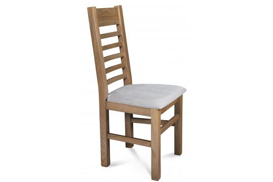 Chaise FABRIC en bois - Chêne POIVRE - Assise Grise