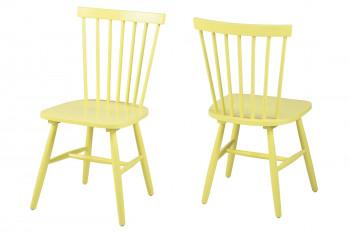 Chaises bois - coloris jaune - TOLEDO (Lot de 2)