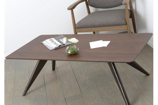 Table basse WENGUE - bois noir noyer