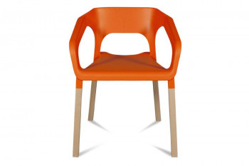 Chaises bois moderne - Coloris orange - KRAFT (Lot de 2)