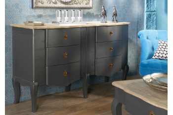 Commode double 6 tiroirs CELESTE