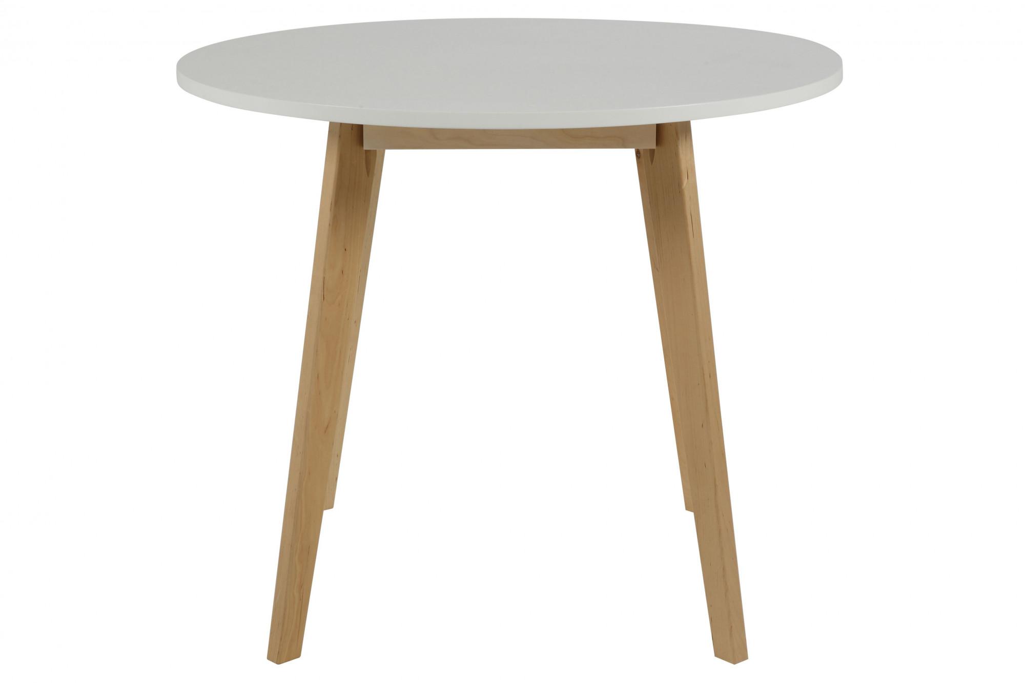 Petite Table Ronde Scandinave En Bois Massif Luza Hellin
