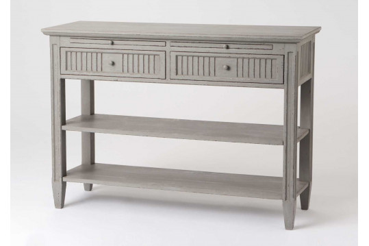 Console en bois Macani coloris gris