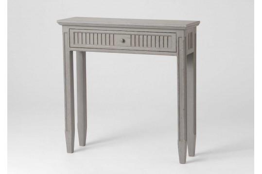 Console 1 tiroir en bois Macani coloris gris