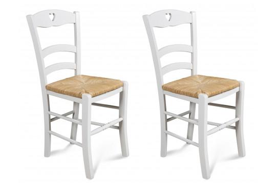 Chaises en hêtre Silva - coloris Blanc (Lot de 2)