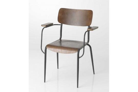 Chaise bois et métal style Atelier