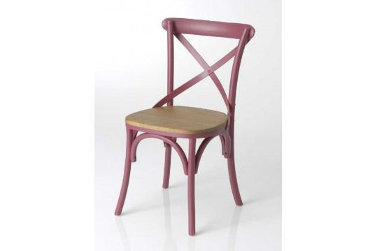 Lot de 2 chaises en bois Bistrot