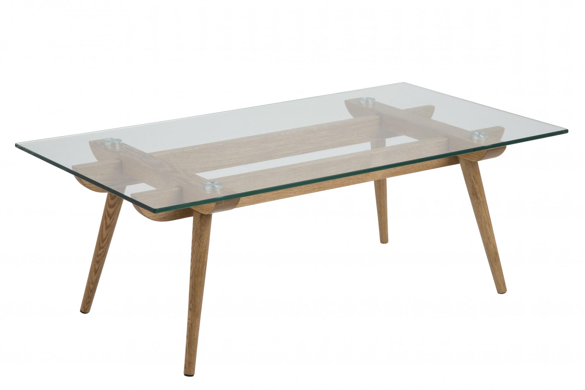 table basse de salon en bois massif et plateau verre hellin. Black Bedroom Furniture Sets. Home Design Ideas