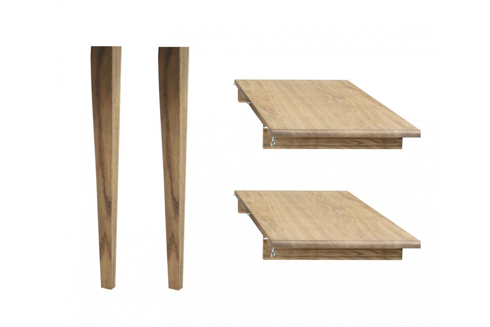 Et En Pieds Rallonges Ronde Table Pour Extensible Hellin Bois 5L4RjA