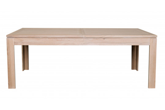 Table moderne extensible BOSTON 160 cm en chêne