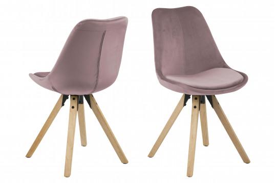Lot de 2 chaises modernes bois et tissus EARL
